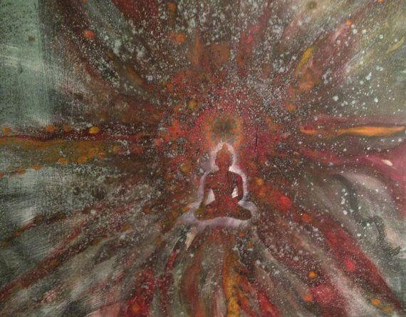 MeditationMixed media on canvas35 x 31 by NamakuArt on Etsy, $350.00