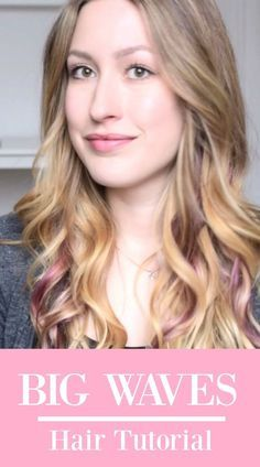 Big sexy hair TUTORIAL. So zauberst du wunderschöne, große, Locken.   Haar Tutorial, Locken, Wellen, Waves, Blog, Tutorial, Anleitung, Lockenstab, Pinke Haare, Beautyblog