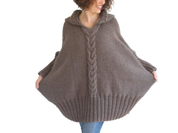 NEW Over Size Sweater With Hood by Afra