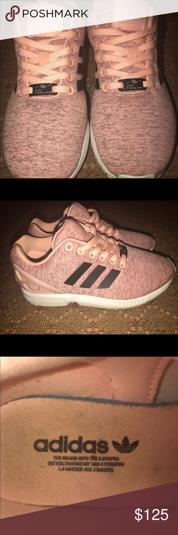 Adidas TORSION ZX FLUX Brand new! Wore maybe 3 times for not long at all! Paid around $150 for them! Says they are a 6 but I wear a 7.5 and they fit me perfectly! Make reasonable offers please! Adidas Shoes Athletic Shoes