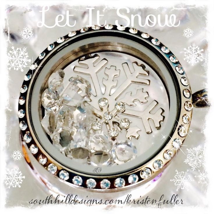 The GORgeous snowflake screen in a large silver locket with swarovski crystals. LOVE! #letitsnow #snow #winter #giftsforher #snowflake