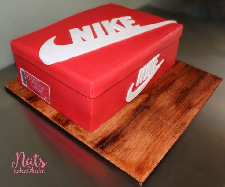 How To Make A Nike Shoe Box Cake