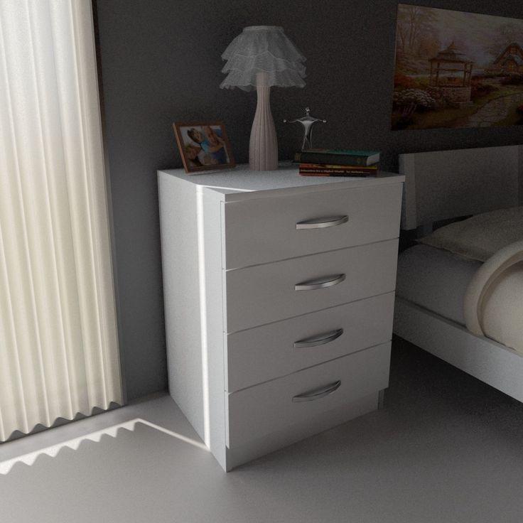 Alise Rugs Balmoral Modern Minimalist Dresser Side Table