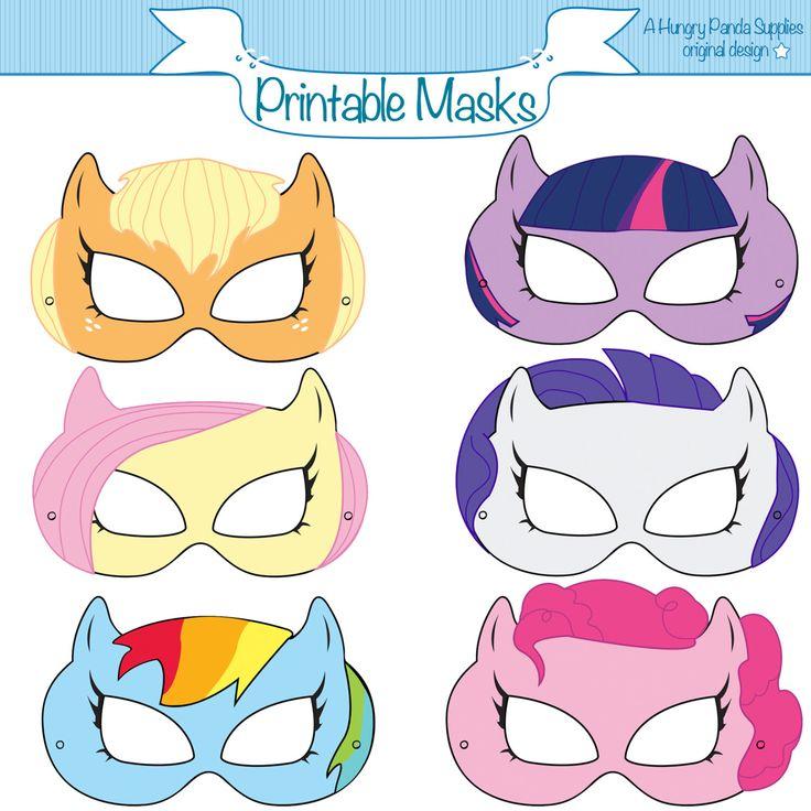 Pony Printable Masks, pony mask, horse mask, girls costume, pony party, little…