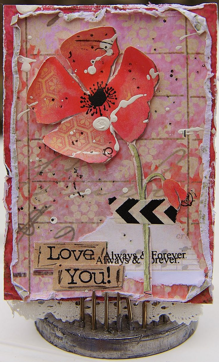 Mixed media ATC using Splash of Color Cherish collection