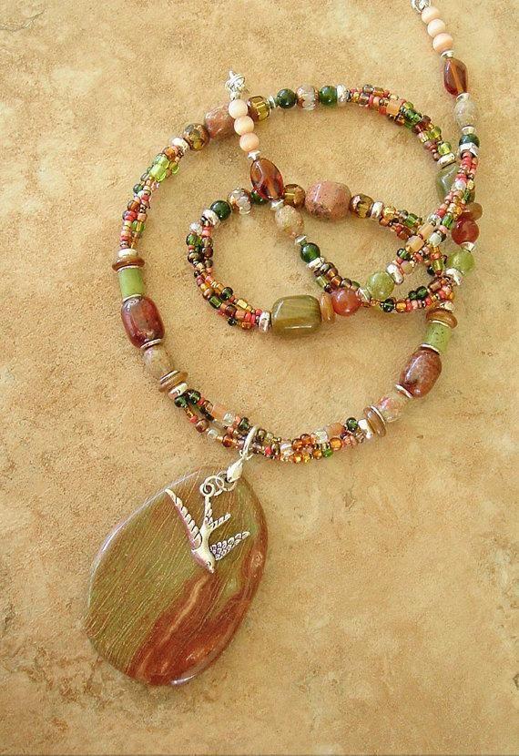 Boho Southwest Necklace, Cowgirl Necklace, Bohemian Jewelry