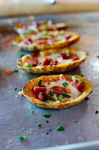 Pizza Potato Skins by Ree Drummond / The Pioneer Woman, # totally obsessed with Ree # pioneer woman wannabe
