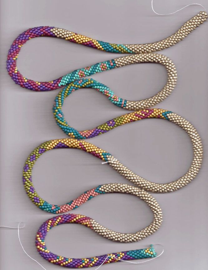Bead Line Studios: Bead-Crochet. Could be used for tubular brick stitch as well. Lots of inspirational patterns.