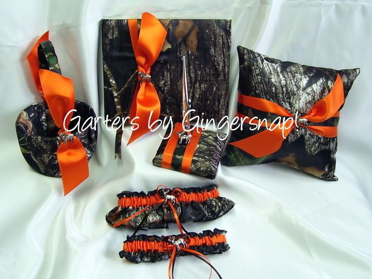 Awesome Camouflage Wedding Accessories, Camo Ring Pillow, Camo Guestbook, Camo  Flowergirl Basket,Camouflage