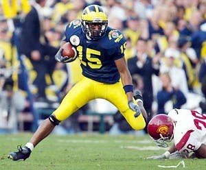 Image result for steve breaston michigan football height=385
