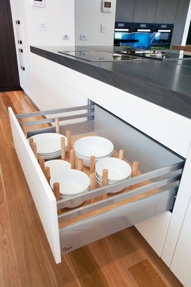Plate drawer  Burraneer Project – Dan Kitchens
