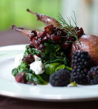 Blackberry and Balsamic Roasted Quail