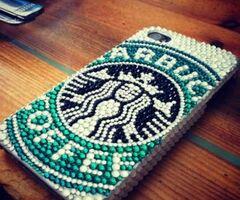Rhinestone Starbucks logo phone case yayyyyeahhh!