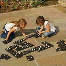 GIANT EVA DOMINOES GARDEN PATIO OUTDOOR GAME KIDS CHILDREN FAMILY SUMMER FUN. Hu