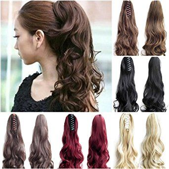 Best 25 best hair extensions brand ideas on pinterest new hair fut womens claw ponytail clip in hair extensions long curly hairpiece pmusecretfo Gallery