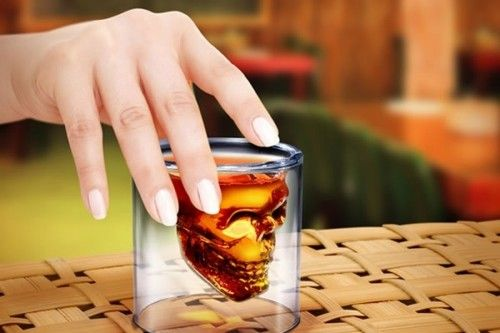 Now that is a shot glass: Doomed Crystal Skull Shot Glass