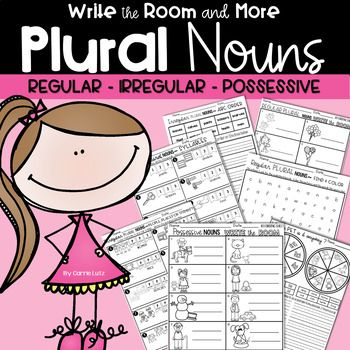 When you are teaching Plural Nouns, there is so much to cover. Regular Nouns, Irregular Nouns and Possessive Nouns! It is an important skill. If your students learn it well, their writing will show it. To learn it, they need to do some engaging and repetitive activities!