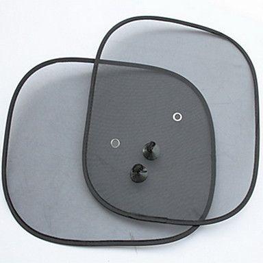 2 штуки. Универсальные солнцезащитные шторы в автомобиль на заднее или боковые стекла с присосками.