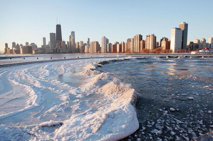 Ghiaccio Sul Lago Michigan Chicago 3 Dicembre 2004 Places Amp Spaces Pinterest Chicago And