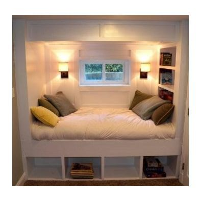 Perfect for a bed In our basement wIthout usIng floor space..put a nook under the stairs!! Love it!