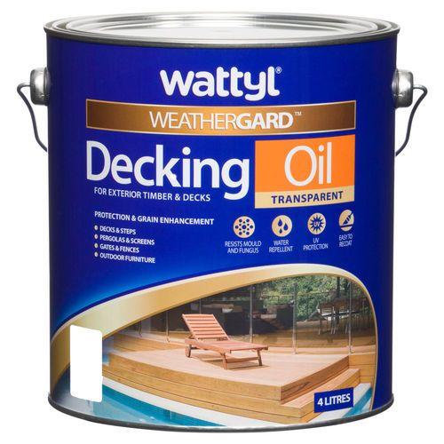 Wattyl Weathergard Deck Oil Merbau 4L