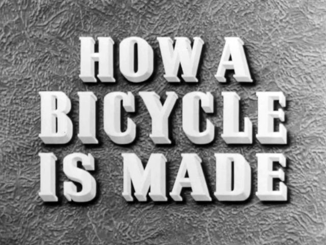 How a Bicycle is Made (1945) by British Council Film. The design and manufacture of Raleigh bicycles.