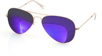 AQS Unisex James Mirrored Aviator Sunglasses.