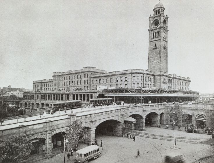 Central Railway Station, Sydney - Completed clock tower, 1920.