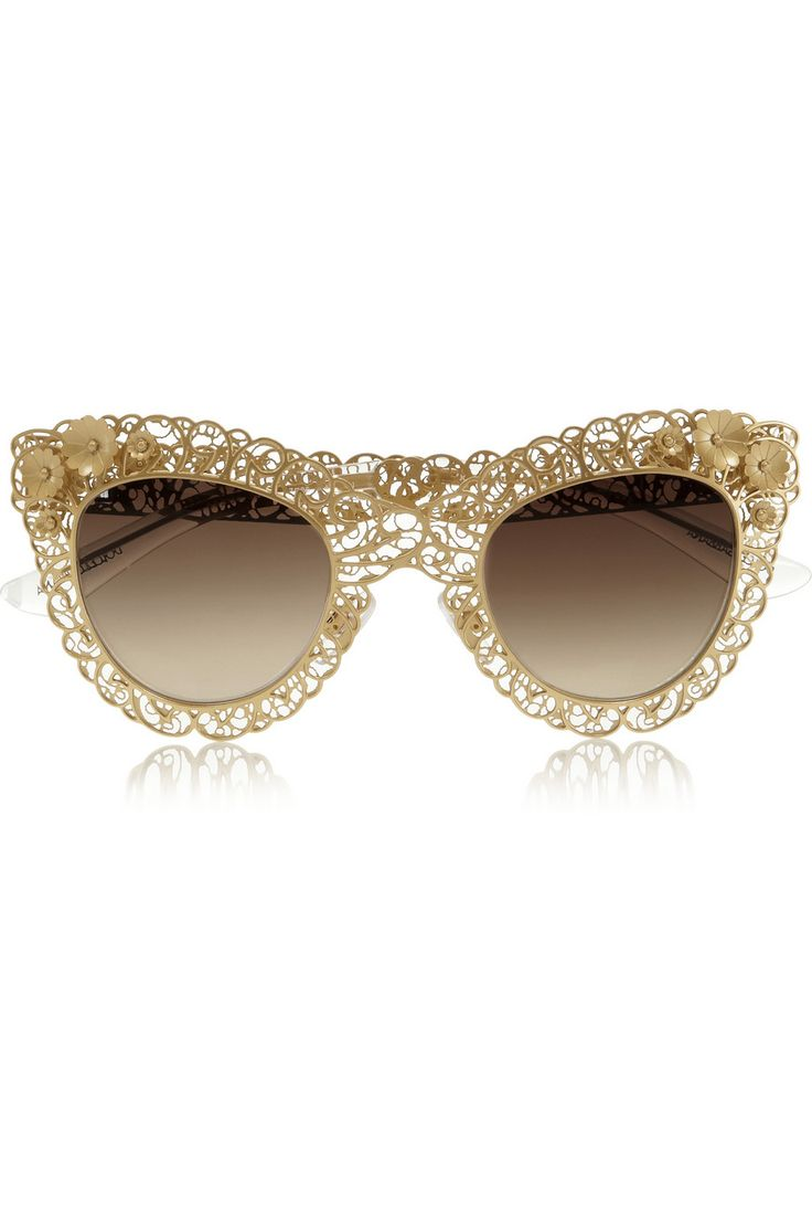 a6bf6324926 Accessory of the day  Cat eye filigree gold-tone sunglasses