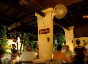 Seminyak - Trattoria is a staple along Jl. Oberoi, very good pizza's and decent pasta' at reasonable prices.