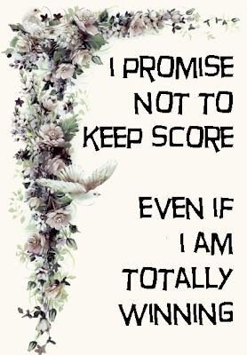 "Vows you never hear but should be said. I think ""I promise not to keep score"" is…"