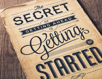 """Check out this @Behance project: """"Secret Of Getting Ahead"""" https://www.behance.net/gallery/9131699/Secret-Of-Getting-Ahead"""