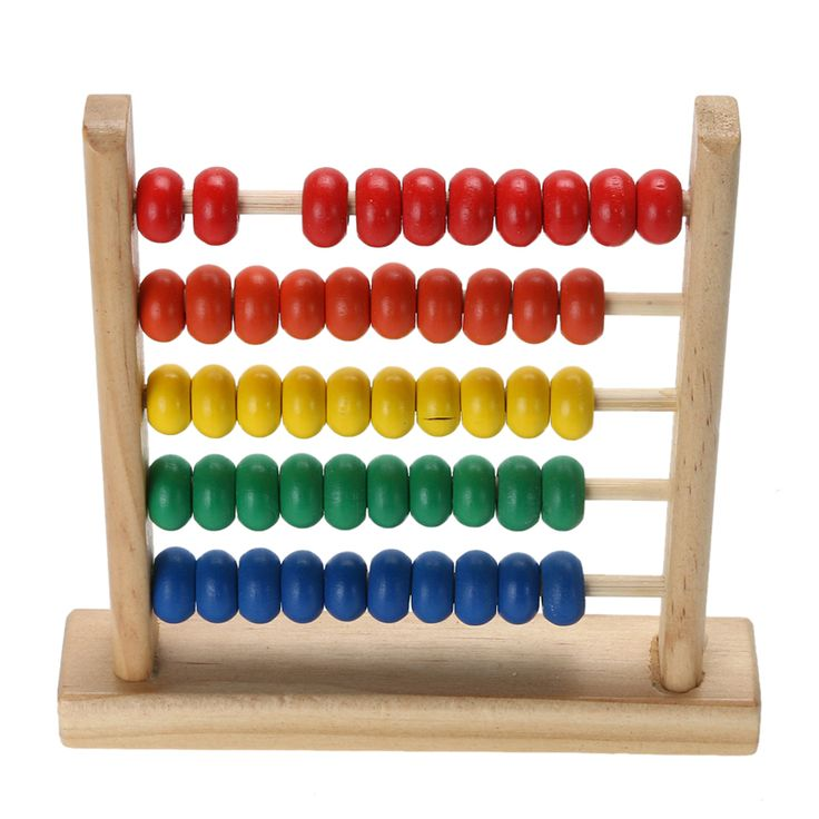 Small Abacus Educational Toy For Kids Children's Wooden Early Math Learning Numbers Counting Calculating Beads Toy
