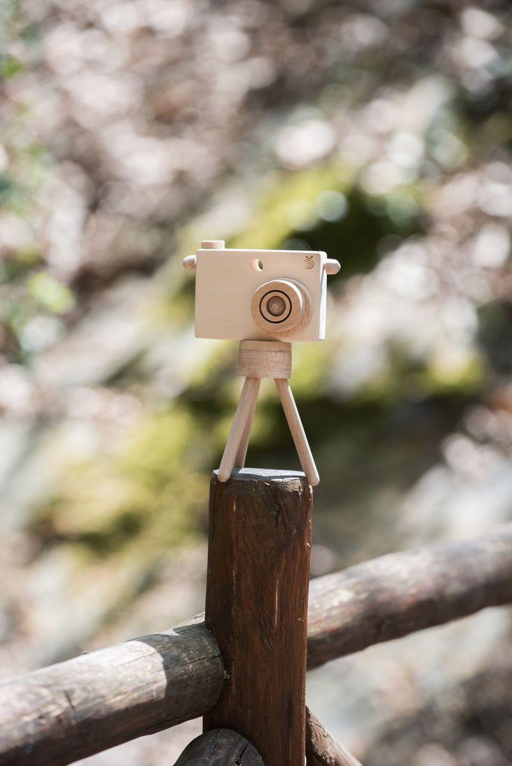 Toy Camera with Tripod by BEIGE BOIS