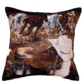Western Way Tapestry Cushion