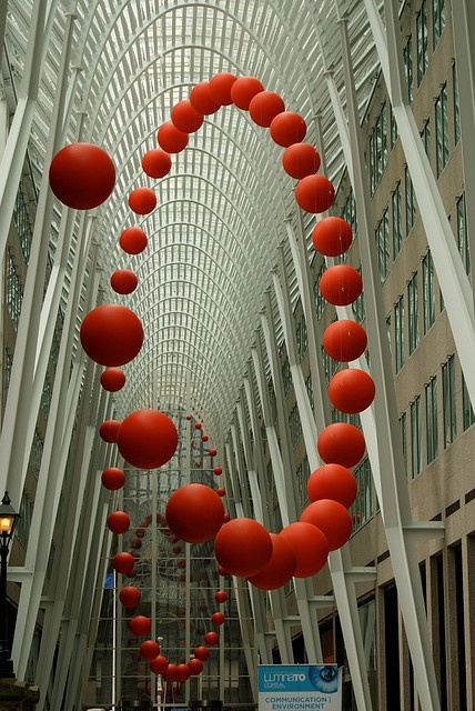 Brookfield Place by Santiago Calatrava, Toronto | Cool installation, beautiful use of negative space and tromp l'oeil.
