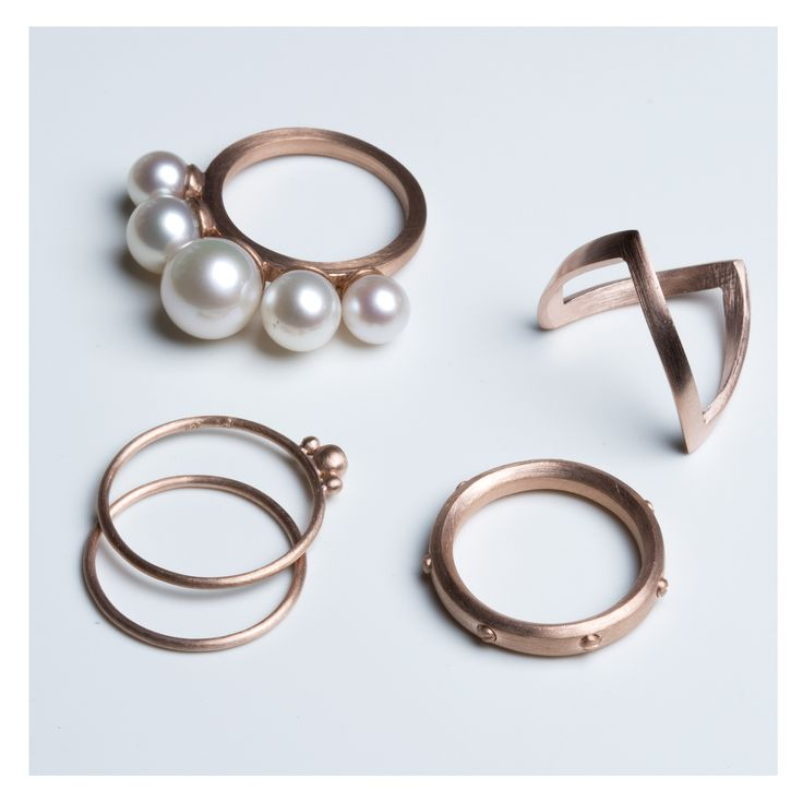 Rose gold-plated rings >> http://www.janekoenig.com/rings/rose-gold-plated-silver.html