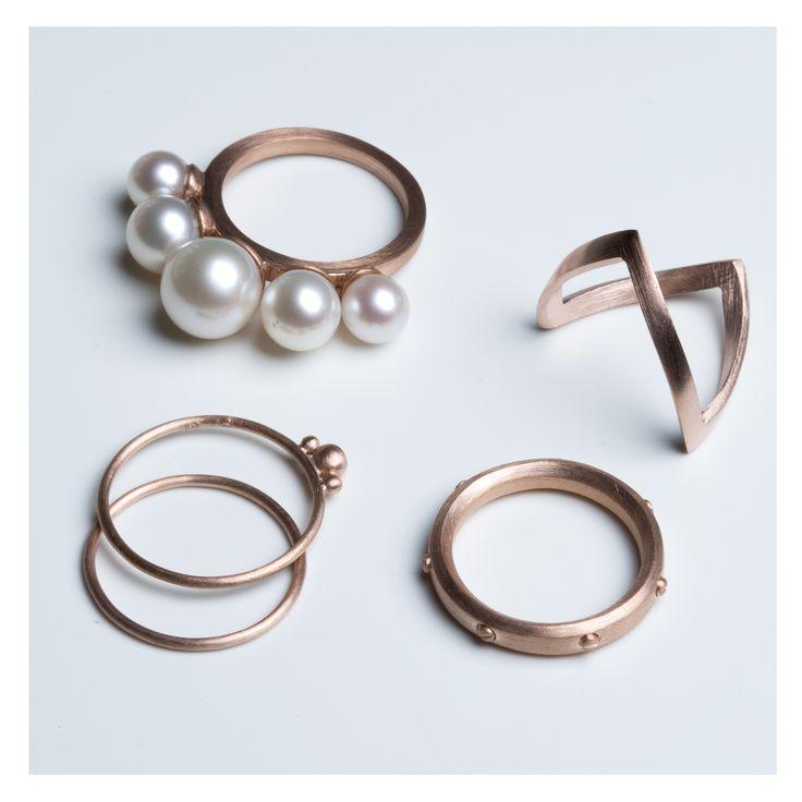 Rose gold-plated rings >> http://www.janekoenig.com/rings/rose-gold-plated-silver.html