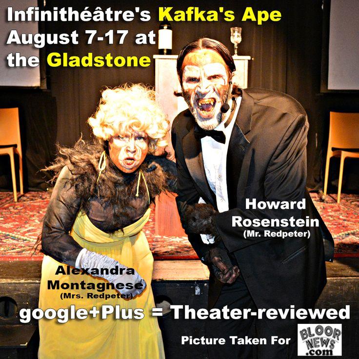 Infinithéâtre's Kafka's Ape August 7-17 Gladstone Hotel http://bloornews.com/blog-toronto/infinitheatre-kafka-ape-august-7-17-gladstone-hotel/  #gladstone #toronto #theatre #stage  Add Us google+Plus = Theater-reviewed