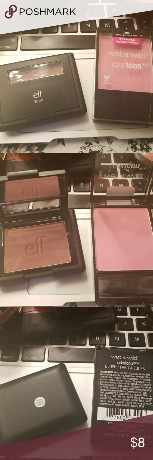 Drugstore Blush Set Wet n wild coloricon blush in fantastic plastic pink & elf berry merry Makeup Blush
