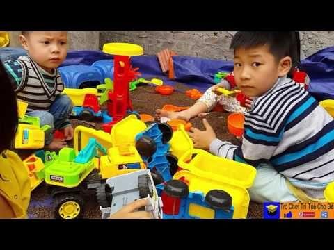 Ô Tô Xúc Cát_Cần Cẩu Máy Múc_Car Toys