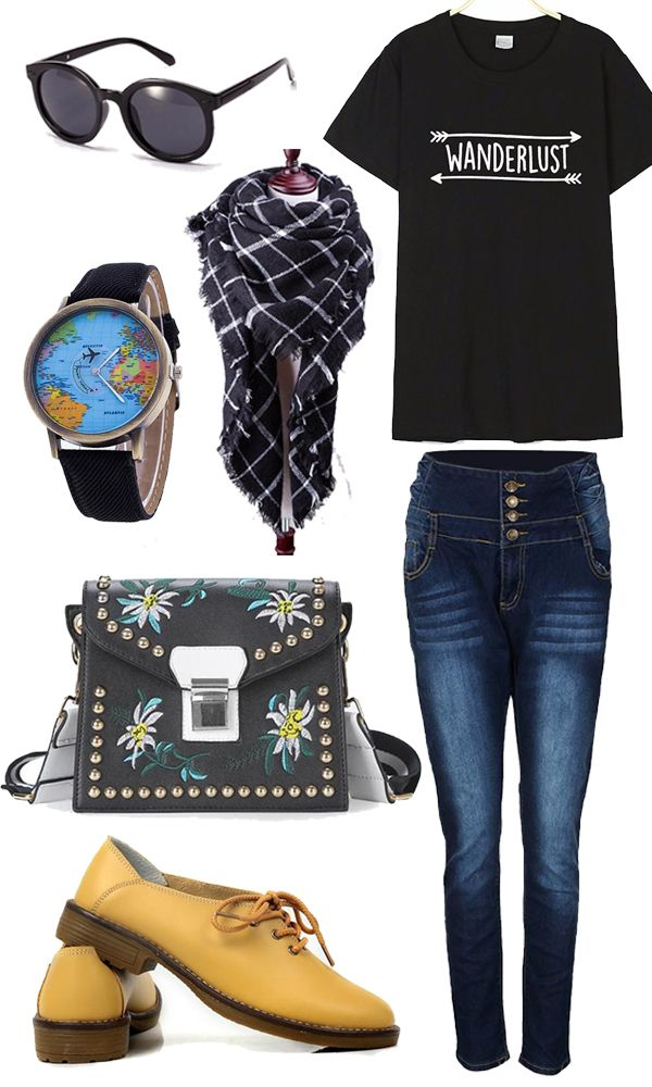 Casual Wanderlust Outfit - On your way to the airport or just on the go.