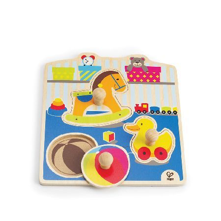 Hape My Toys Puzzle Chunky wooden puzzle pieces with easy grip knobs. Made to Hape environmentally friendly and high quality standards. Helps develop hand-eye coordination.... (Barcode EAN=6943478003644) http://www.MightGet.com/january-2017-12/hape-my-toys-puzzle.asp