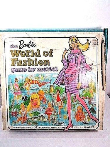 VINTAGE-1967-MATTEL-BARBIE-WORLD-OF-FASHION-GAME-IN-BOX-1960-039-S-TOY