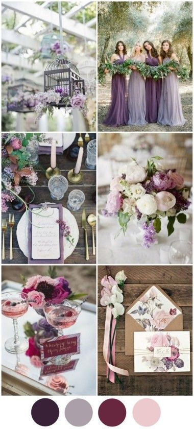 Top en colores para tu boda paleta de colores morado - berry
