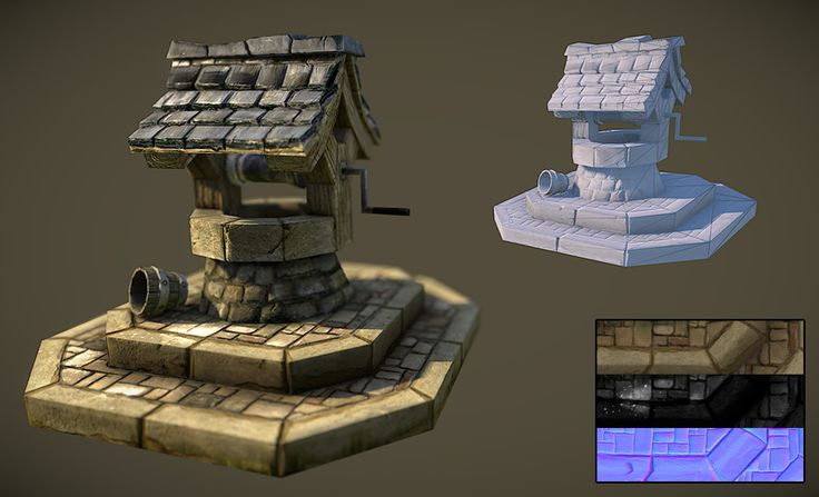 Water Well - 3 Styles Rendering - Polycount Forum