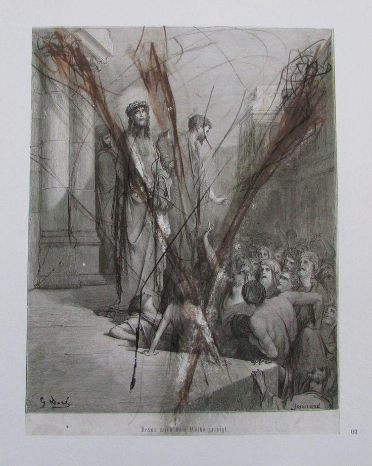 Arnulf Rainer JESUS WIRD DEM VOLK GEZEIGT Übermalung Kunstdruck Religion print | eBay