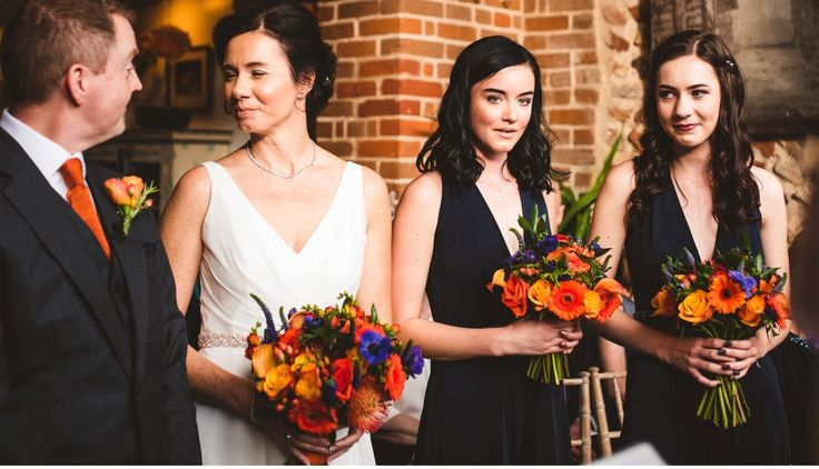 Autumal wedding flowers