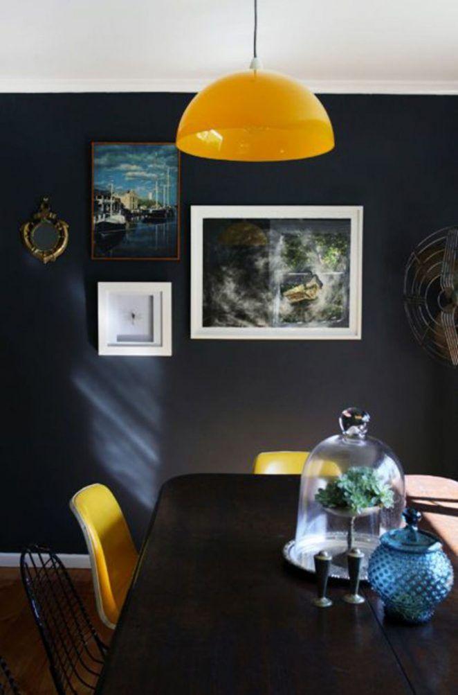 Salon Bleu Et Jaune 17 Idees Deco Pour Associer Ces Couleurs Decoration Interieur Peinture Decoration Interieure Et Salle A Manger Bleue