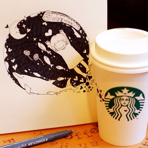 Starbucks Picture #Starbucks, #pictures, #art, https://apps.facebook.com/yangutu/